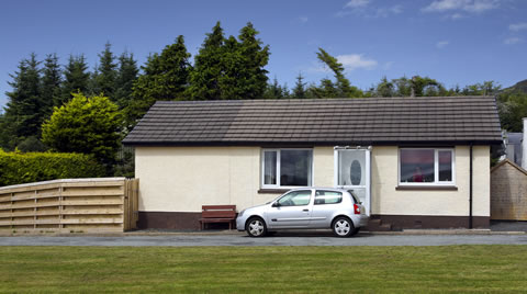 5 chalets (bungalow style accommodation) to let outside PORTREE on The Isle of Skye